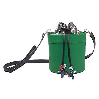 Super Mario Shoulder Bag Pipe Shaped new Official Nintendo Green Womens