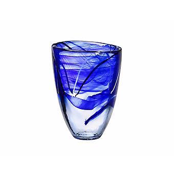Kosta Boda CONTRAST-Blue vase Anna Ehrner-New from the glass prince