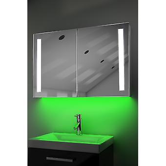 K372w gabinete con LED bajo iluminación, Sensor e interna afeitadora de desempañado
