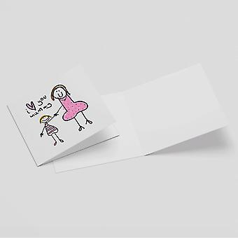 I Love You Mummy Square Greetings Card (14.8cm x 14.8cm)