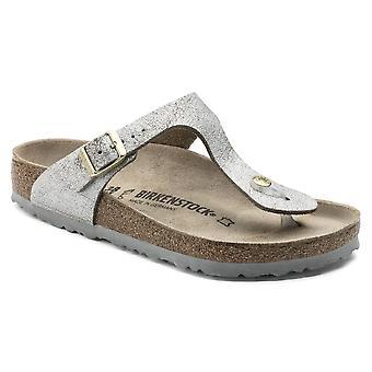 Birkenstock Gizeh SL Sandal 1008790 vasket metallic sølv smal