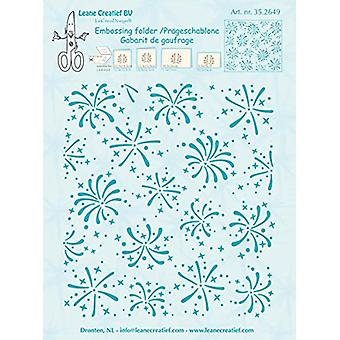 Leane Creatief Embossing Folder - Background Fireworks 352649