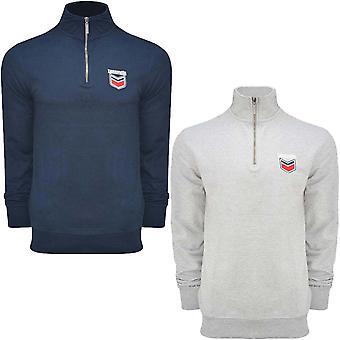 Lambretta Herre langærmet 1/4 Zip casual track top pullover sweater jumper
