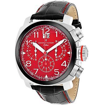 Christian Van Sant Men's Grand Python Red Dial Watch - CV3AU9