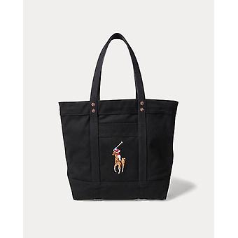 Ralph lauren polo navy blue womens big pony tote bag