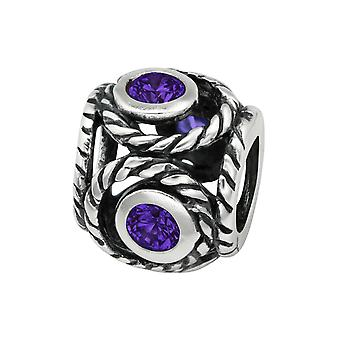 Runde - jeweled 925 Sterling Silber Beads - W3764X