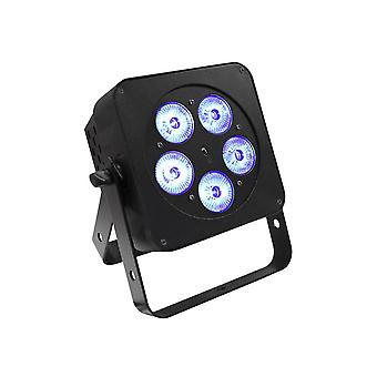 LEDJ Ledj Slimline 5q5 Rgbw Black Stage Light