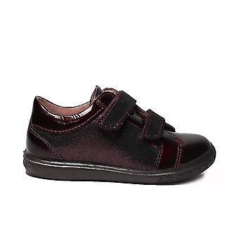 Ricosta Niddy Bourgondië lakleer meisjes RIP tape casual trainer schoenen