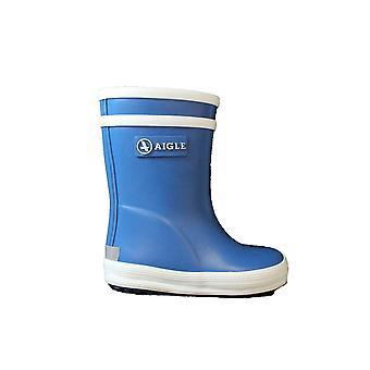 Aigle بيبي فلاك المطاط الأزرق أحذية ولينغتون