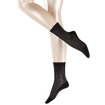 Esprit Läpinäkyvainen raita sukat-musta