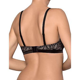 Nipplex vrouwen ' s Lorita zwart en naakt gewatteerde underwired push-up beha