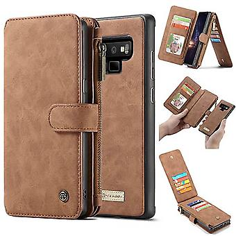 Case Voor Samsung Galaxy Note 9 Brown Multifunctionele Portfolio