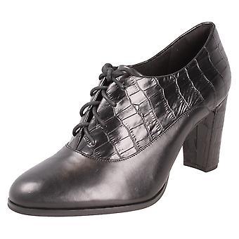Ladies Clarks blokk med hæl sko Kayla Ida