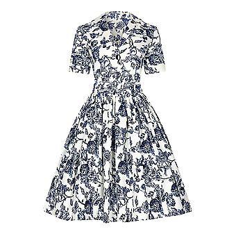 Collectif Vintage vrouwen ' s Janet Toile print shirt-jurk