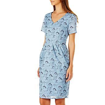 Sugarhill Boutique Women's Blue Gayna Running Swans Dress