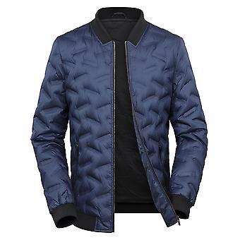 Allthemen Men's Thin Warm Down Padded Jacket Short Bomber Jacket