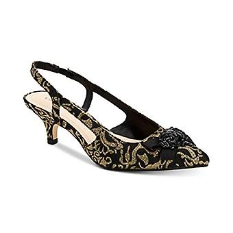 Charter Club Lollee Bow Slingback Pumps Black/Gold Size 7.5M