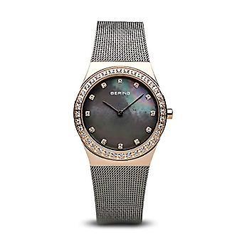 ברינג אנלוגי האישה הרביעית של השעון עם חגורת נירוסטה חגורה 12430-369