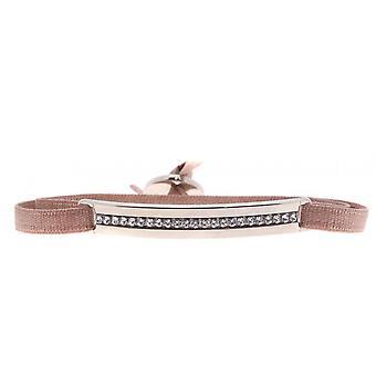 Armband verwisselbaar A34783 - stof Beige vrouw Swarovski kristallen armband