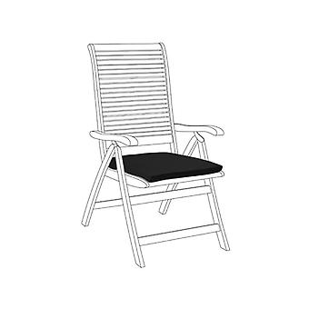 Gardenista Garden Chair Seat Pad | Slip Free Hypoallergenic Cushion | Water Resistant Thick Quality Cushion Pads | Great for Indoors & Outdoors | Secure Ties | 1 Piece (Black)