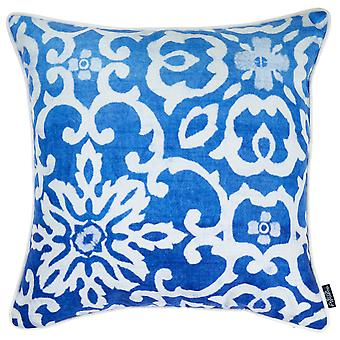 """18""""x 18"""" Blue Sky Tile Decorative Throw Pillow Cover Printed"""
