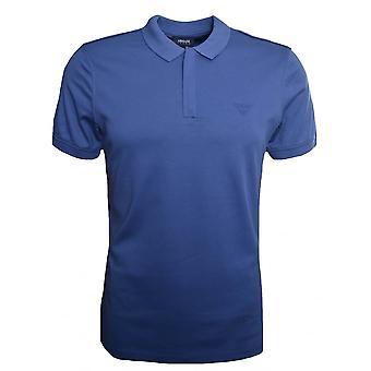 Camicia di Polo di Armani Jeans uomo Blu Avio