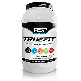 Rsp truefit whey protein powder, protein shake, meal replacement, grass-fed whey with fiber & probiotics, non-gmo, gluten-free (unflavored)