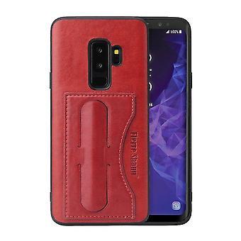 لسامسونج غالاكسي S9 حالة، Fierre شان الفاخرة غطاء وقائي دائم، الأحمر