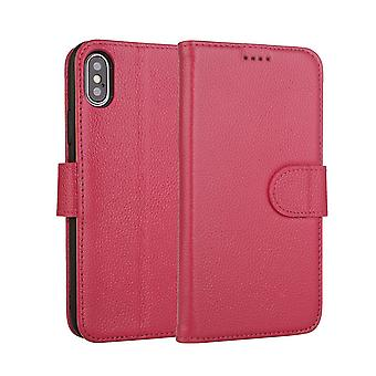 Fashion Pink Cowhide Genuine Leather Wallet For iPhone XS MAX Case