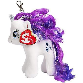 TY Min Lille Pony Clip Sjeldenhet Enhjørning Nøkkelring Fylt Dyr Myk Is 11cm
