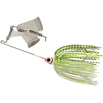 Booyah Buzz Bait 1/4 oz. Fishing Lure - White/Chartreuse Shad