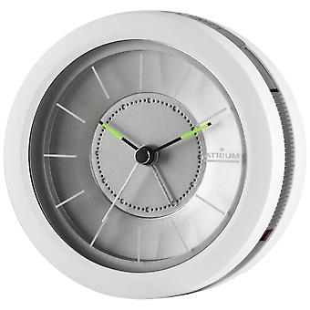 ATRIUM Alarm Clock Analog Quartz Design Alarm Clock A106-0 Light Snooze White