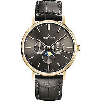 Claude Bernard - Wristwatch - Unisex - Slim line moon phase - 40004 37J GID