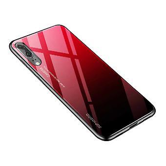 Stoff zertifiziert® Huawei P30 Lite - Gradient Armor Case Cover Cas TPU Fall rot