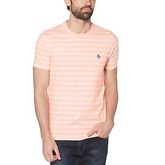 Original Penguin Breton Stripe T-Shirt - Impatiens Pink