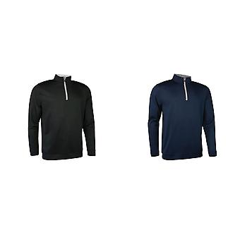 Glenmuir Mens Zip Neck Midlayer Top