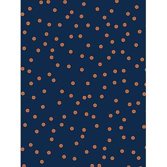 Konfetti Tapet Navy / Kobber Graham & Brown 108561