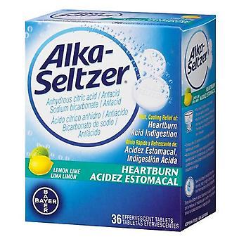 Alka-seltzer antacid & pain relief, effervescent, lemon lime, 36 ea