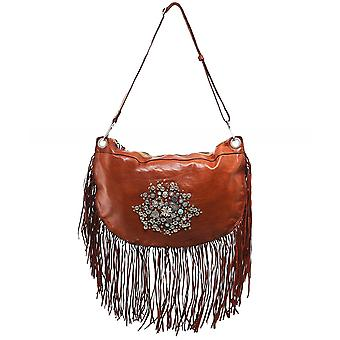 Campomaggi Leather Fringe Studded Bag