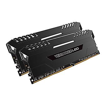 كورساير الانتقام LED الذاكرة كيت مضيئة LED متحمس 16 غيغابايت (2x8 GB)، DDR4 2666 ميغاهرتز، C16 XMP 2.0، أسود مع إضاءة LED الأبيض