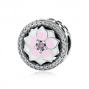 Sterling Silver Charm Magnolia Bloom - 5348
