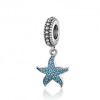 Sterling Silver Pendant Charm Lovely Starfish - 6220