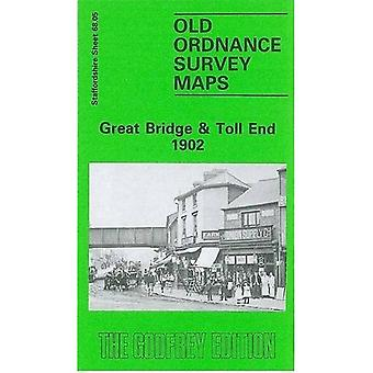 Great Bridge and Toll End 1902: Staffordshire Sheet 68.05 (Old O.S. Maps of Staffordshire)