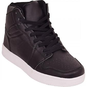 Azire Mens Lace Up Casual Flat Hi High Top Ankle Boots Shoes Trainers Sneakers Size
