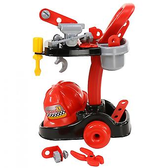 Polesie Kids Mechanic Set 36612 Tool Trolley Pliers Screwdriver Helmet