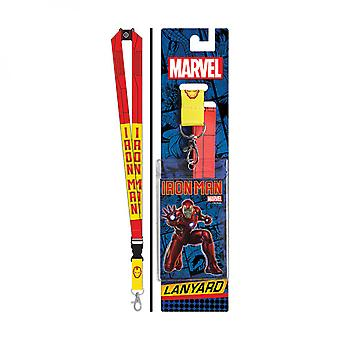 Iron Man Red and Yellow Lanyard