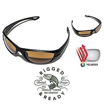 Os óculos de sol de pesca de viagem
