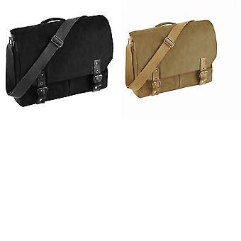 Quadra Vintage Canvas Satchel Messenger Bags (12 Litres) (Pack of 2)