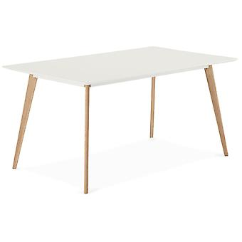 Ibbe Design Life Dining Table 160x90 White/Oak, 160x90x75 cm