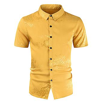 Allthemen Men's Casual Shirts Funky Colourful Graphic Printed Short Sleeve Shirts